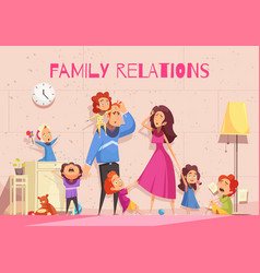 European family vector