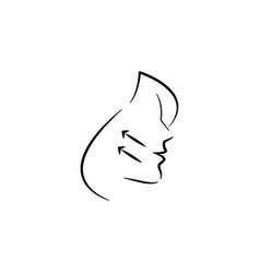 Facelift icon element anti aging icon vector