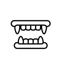 Fangs line vector