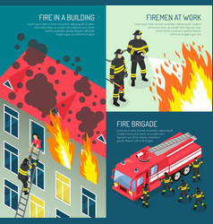 Fire department design concept set vector