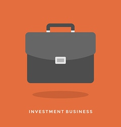 Flat design concept investment business vector