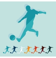 Flat design soccer player vector