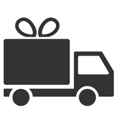 Gift delivery flat icon vector