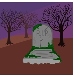 Grave in the cemetery cartoon vector