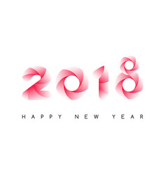 happy new year 2018 colorful typeface isolated vector image