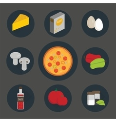 Icons set of process cooking pizza vector