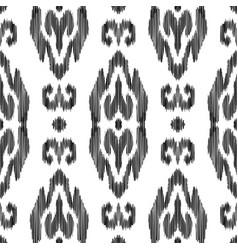Ikat seamless pattern ethnic ornament vector