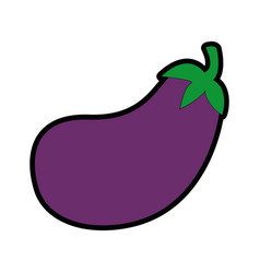 isolated cute eggplant vector image