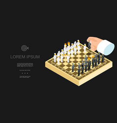 isometric business chess template vector image