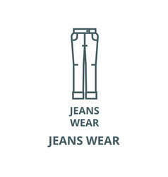 jeans wear line icon linear concept vector image