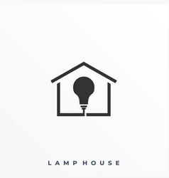 Lamp house template vector