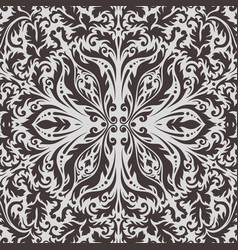 luxury decorative background premium damask vector image