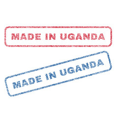 Made in uganda textile stamps vector