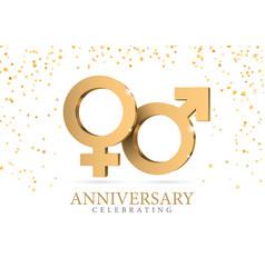 male and female gender symbol mars and venus vector image