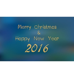 Merry christ mass and 2016 Happy new year greeting vector image