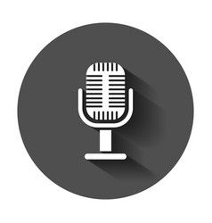 microphone icon in flat style mic broadcast with vector image