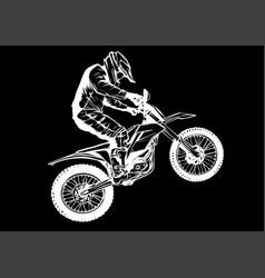 motocross rider ride motocross bike vector image