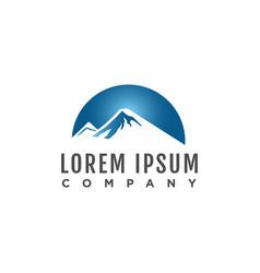 mountain logo template eps10 vector image
