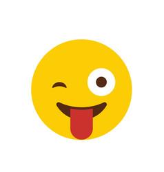 naughty emoji icon design vector image