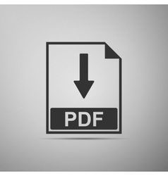 PDF flat icon on grey background Adobe vector image