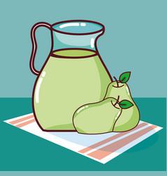 Pear fruit juice vector