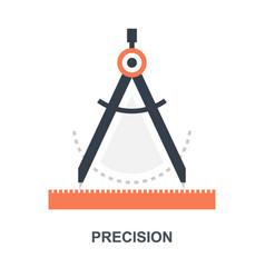 Precision icon concept vector