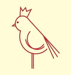 ptica koka petao simple1 vector image