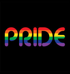 rainbow pride on black vector image