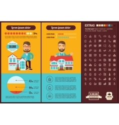 Real Estate flat design Infographic Template vector image
