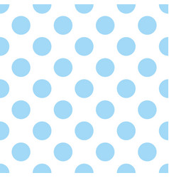 Seamless pattern with cute tile blue polka dots vector