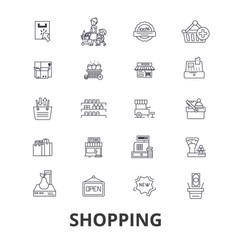shopping bag mall cart sale fashion online vector image vector image