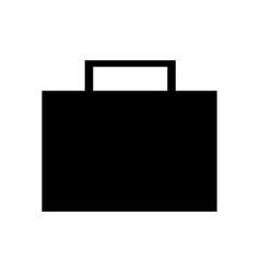 silhouette briefcase portfolio bsuisness image vector image