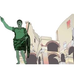 Statue of Emperor Gaius Julius Caesar to the Roman vector image