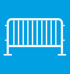 Steel barrier icon white vector