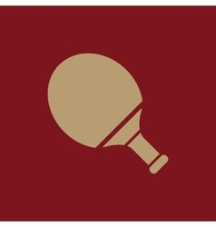 Tennis icon Game symbol Flat vector