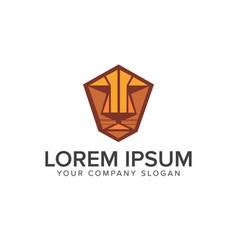 Tiger or lion face emblem logo design concept vector