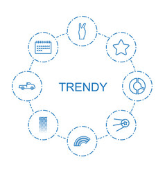 trendy icons vector image