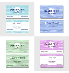 Two business card templates for dental clinics vector