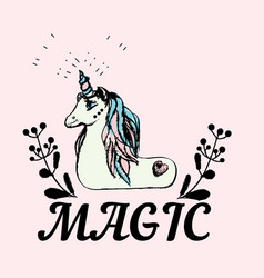 unicorn are real fantasy vector image