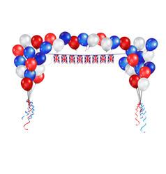 United kingdom symbol balloons vector