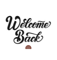 volumetric welcome back elegant modern vector image