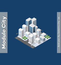 winter isometric city vector image