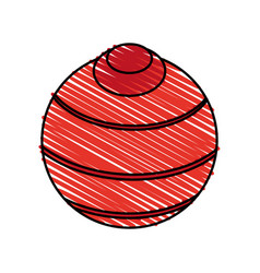 Yoga ball vector