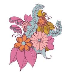 Zentangle paisley design vector