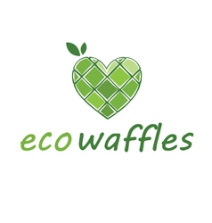 Abstract icon of eco waffles vector