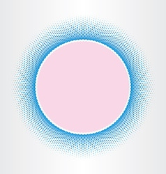 circle abstract background squares halftones vector image