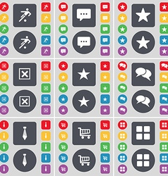 Football Chat bubble Star Stop Star Tie Shopping vector image