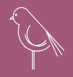 ptica koka petao simple2 vector image vector image