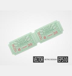retro cinema tickets green design vector image