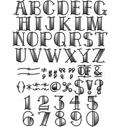 Retro Fontface vector image vector image